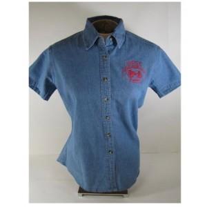 Ladies Short Sleeve Denim Judge Shirt