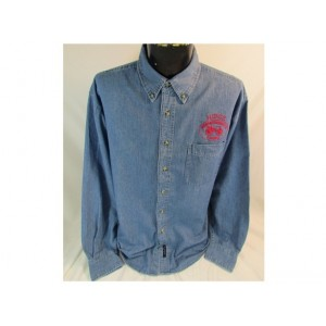Mens Long Sleeve Denim Judge Shirt