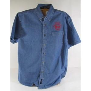Mens Short Sleeve Denim Judge Shirt