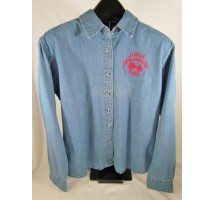 Ladies Long Sleeve Denim Judge Shirt