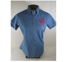 Ladies Short Sleeve Denim Judge Shirt