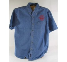 Mens Short Sleeve Denim Judge Shirt